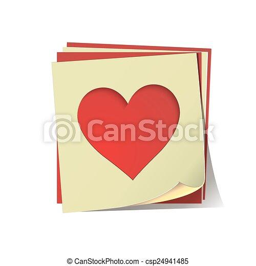Corazón cortado en papel - csp24941485