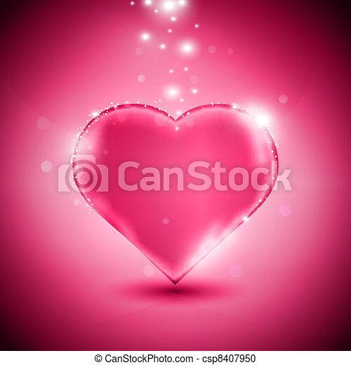 Corazón rosado - csp8407950