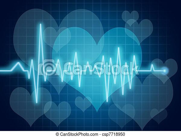 Simbolo de salud cardíaca - csp7718950