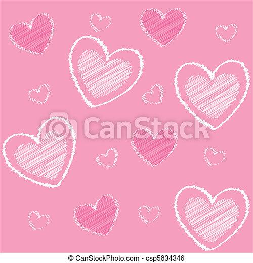 Corazones de San Valentín, espalda rosada - csp5834346