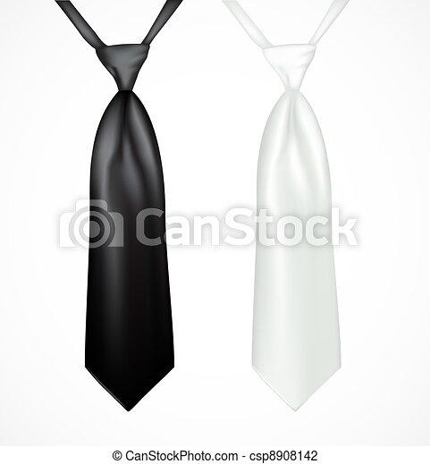 Una corbata blanca y negra - csp8908142