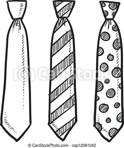Dibujo de corbata - csp12061042