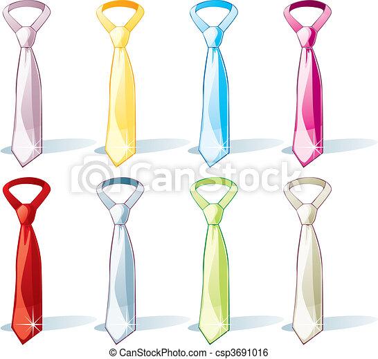 Ilustración del vector de la corbata aislada - csp3691016