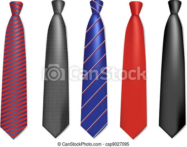 La colección de corbatas. - csp9027095