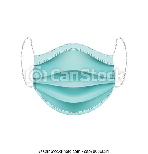 coronavirus, mask., concept., protector, cara - csp79686034