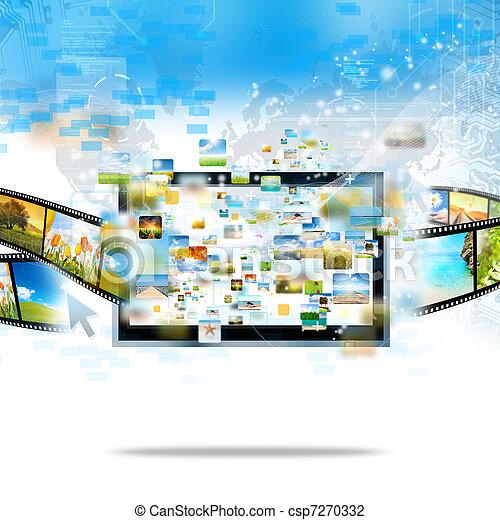 Televisión moderna - csp7270332