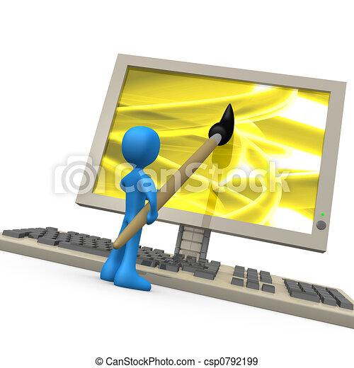 Creatividad digital - csp0792199