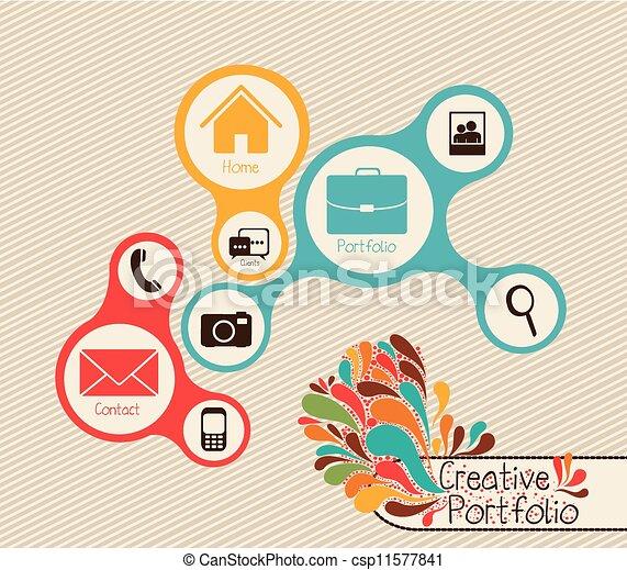 Una carpeta creativa - csp11577841