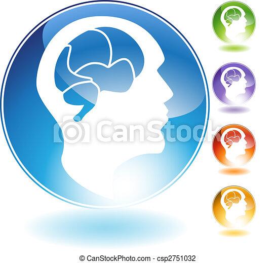 Un icono de cristal humano - csp2751032