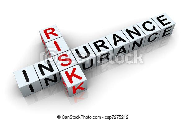 "Tercer crucigrama de ""riesgo de seguro"" - csp7275212"
