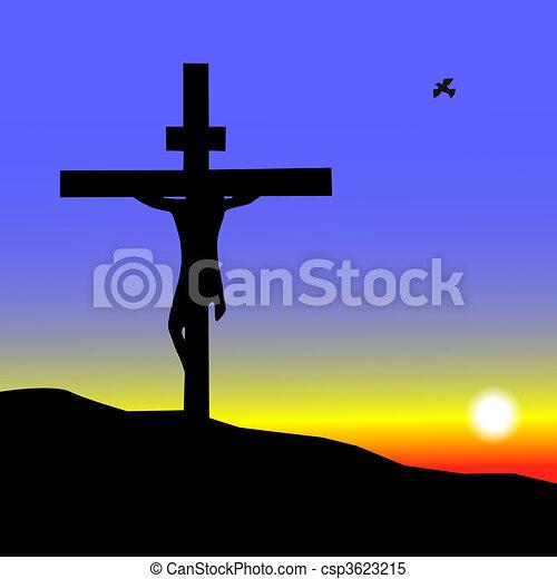 Jesús en la cruz - csp3623215