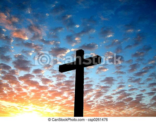 Cruza en una nube - csp0261476