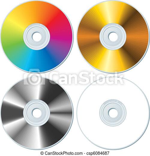 Cuatro CDs en blanco - csp6084687