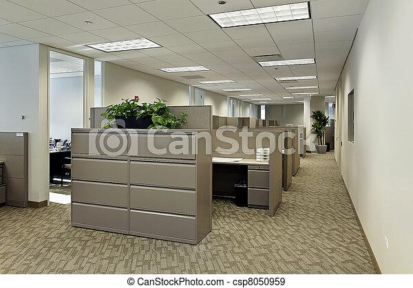 Espacio de oficina con cubículos - csp8050959