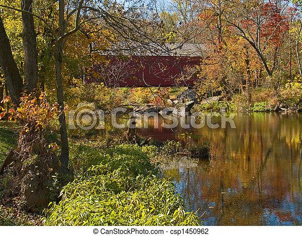 Sheards Mills cubrió el puente 3 - csp1450962