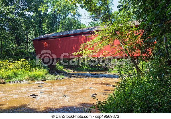 Cubierto puente y corriente - csp49569873