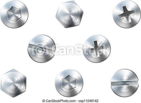 Cuernos y tornillos - csp11048142