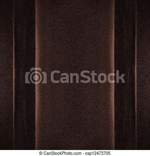 Cuero marrón - csp12473705