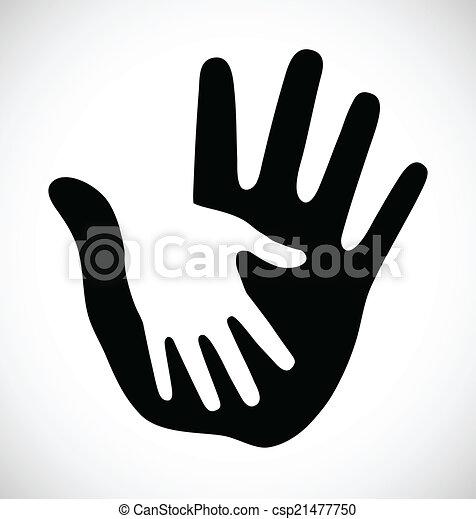 Cuidadosa mano gruesa - csp21477750