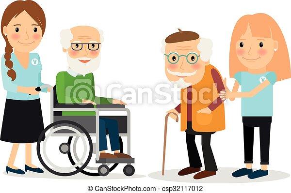 Cuidando a los mayores - csp32117012