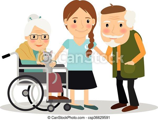 Cuidando a pacientes mayores - csp36629591