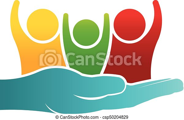 Cuidar del logotipo de la familia - csp50204829