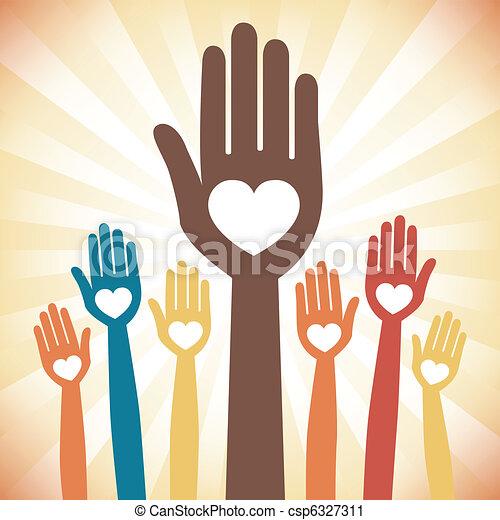 Cuidar el diseño de manos amorosas. - csp6327311