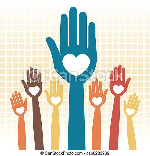 Cuidar el diseño de manos amorosas. - csp6283939