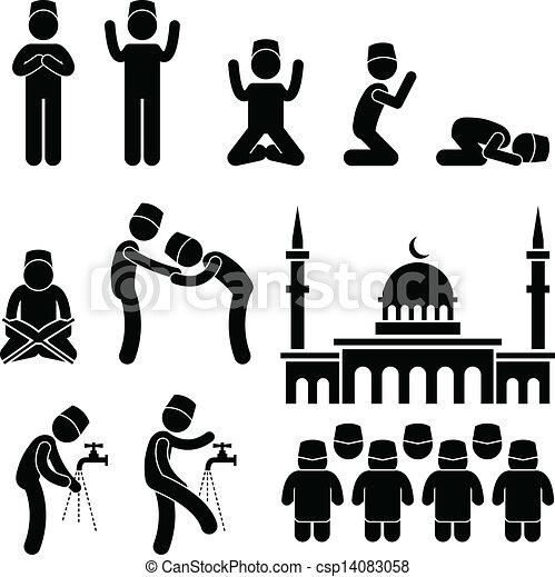 Cultura religiosa musulmán Islam - csp14083058