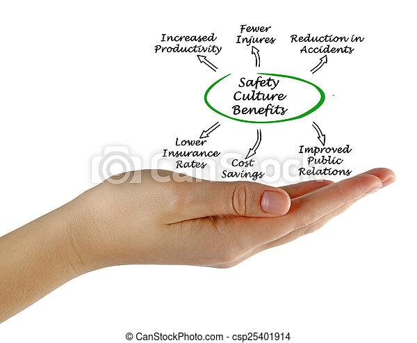 Los beneficios de la cultura de seguridad - csp25401914