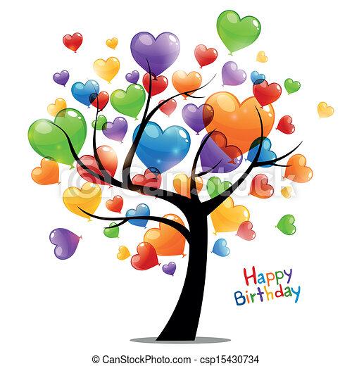 Vector feliz tarjeta de cumpleaños - csp15430734
