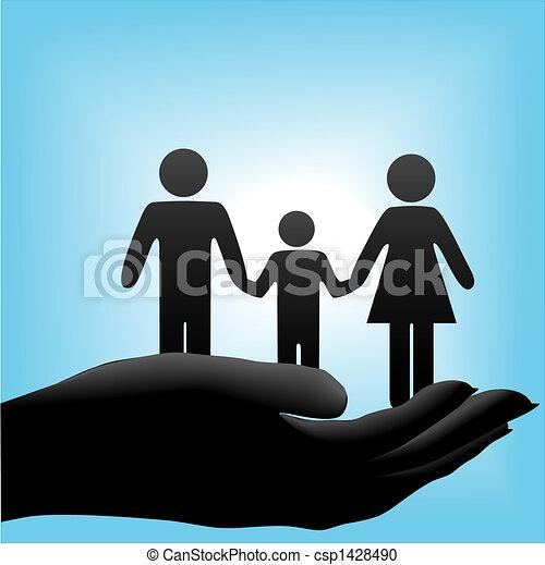 La familia de los hijos de la madre - csp1428490