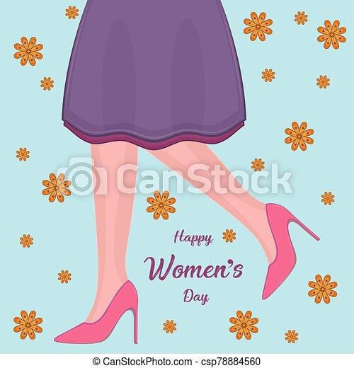 día, tarjeta, feliz, womens - csp78884560