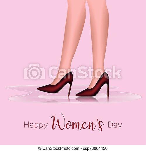 día, tarjeta, feliz, womens - csp78884450