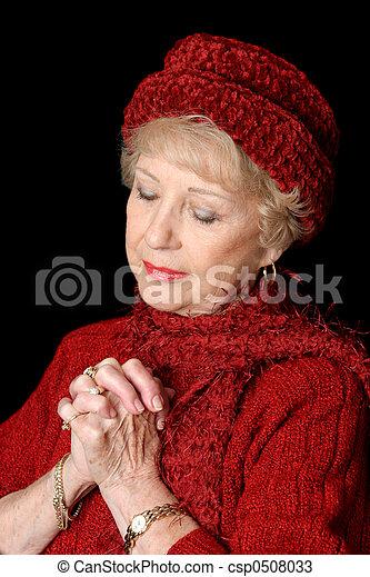 Dedicada señora mayor - csp0508033
