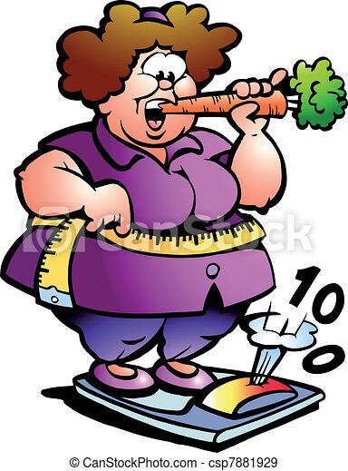 Mujer gorda del vientre - csp7881929