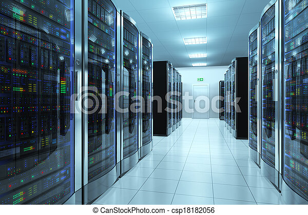 Sala de servicio en el centro de datos - csp18182056