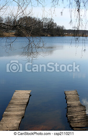 Puentes de madera - csp2110211