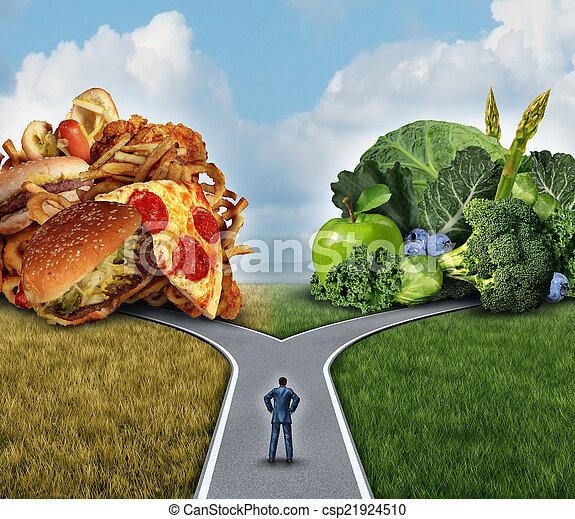 Decisión de dieta - csp21924510