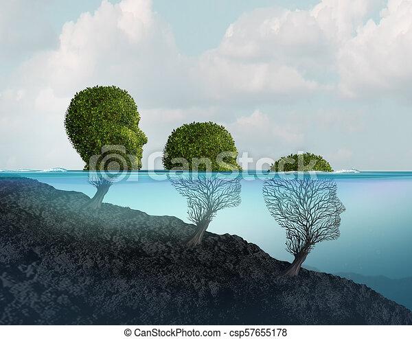 Declive de salud mental - csp57655178