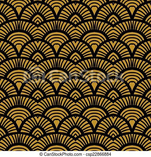 Patrón de arte dibujado a mano antigua - csp22866884
