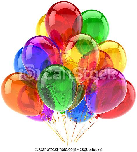 Decoración de cumpleaños de globos - csp6639872