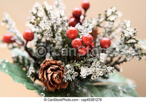 Decoraciones navideñas - csp45381276