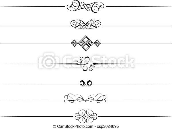 Dividentes de páginas decorativas - csp3024895