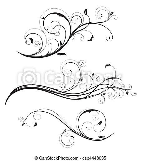 Los elementos florales decorativos - csp4448035