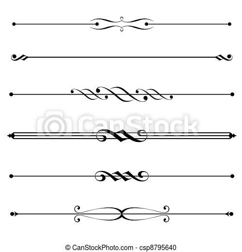 Elementos decorativos, reglas de la frontera y la página - csp8795640