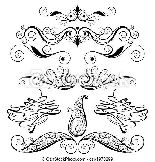 Decorativos diseño floral - csp1970299