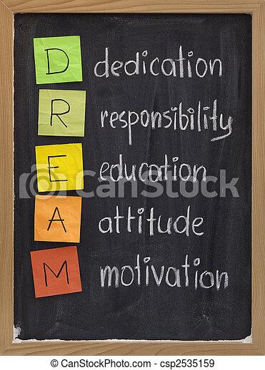 La motivación de la responsabilidad de la educación - csp2535159