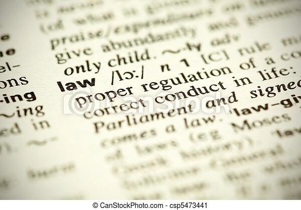 """Definición diccionaria de la palabra """"Law"""" - csp5473441"""