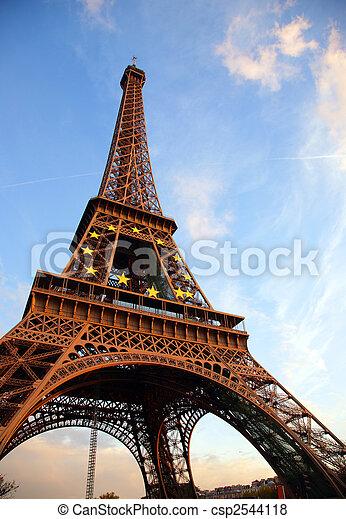 Tour d'Eiffel, Francia, París - csp2544118
